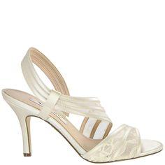 Nina VITALIA IVORY CRYS SATIN by Nina Shoes