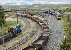 Standard Gauge, British Rail, Model Train Layouts, Ho Scale, Model Trains, Scale Models, Scenery, Staging, World
