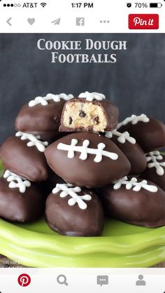 Football Cookie Dough #Food #Drink #Trusper #Tip