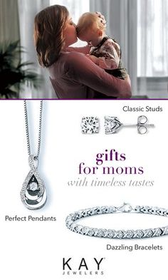 Make Mom's day with classic styles she'll treasure forever. The Kay Mother's Day Gift Guide is full of dazzling diamonds and breathtaking pieces that will warm her heart. Whether you're looking for a necklace, bracelet, earrings or a ring, Kay has the perfect present for the mom in your life.