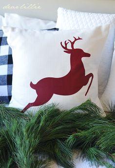 reindeer pillow by dear lillie