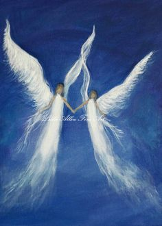 Angel Angels Art Religious Guardian by LeslieAllenFineArt, $8.00