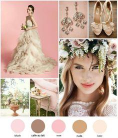 Gorgeous wedding inspiration... Blush + Cafe Au Lait