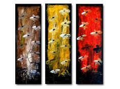 Geni011 36x36 Original Abstract Painting by Geni by genistudio, $89.99