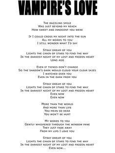 VAMPIRE'S LOVE [Single: VAMPIRE'S LOVE] #VAMPS #HYDE #KAZ #LYRICS #MUSIC #BLOODSUCKERS #VAMPIRESLOVE