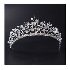 41.99$  Watch now - http://vibbr.justgood.pw/vig/item.php?t=wp8qig5727 - Silver Pearl Headpiece Wedding Tiaras Crowns For Brides Queen Pageant Crown 41.99$