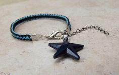 Nautische ster armband: Marine blauwe en door SherryKayDesigns