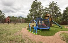 Play Area with Forever Lawn. NorthernArizonaFineHomes.com #realestate #flagstaff #Flagstaff #Paradise #Golf