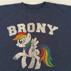 My Little Pony Brony Rainbow Dash Shirt 2XL #MyLittlePony #GraphicTee