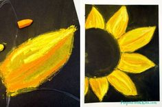 Beautiful Chalk Pastel Sunflowers – Art Project for Kids These chalk pastel sunflowers are so colorful and beautiful! Kids will learn easy chalk pastel techniques to create this fun sunflower art project!