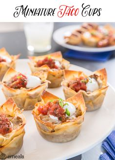 New Year's Miniature Taco Cups