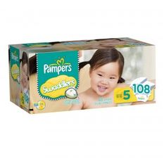 Swaddlers Size 5  WIN: 24/7 MOMS and Procter & Gamble are giving away a Pampers Swaddlers Prize Pack consisting of:    ·         On-the-go Diapering Kit    ·         $10 Target Gift Card    ·         Pampers Wipes