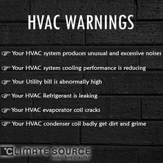 Get to know about #HVAC warnings!
