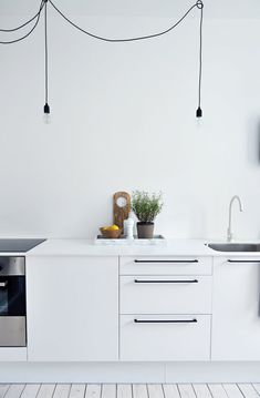 White kitchen Charlotte renovation - Blackbird