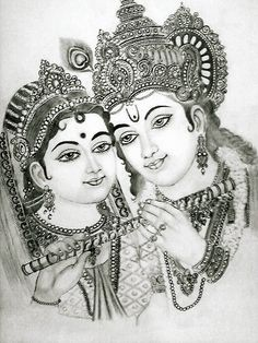 radha krishna by pavan agarwal Radha Krishna Sketch, Ganesha Sketch, Shiva Sketch, Krishna Drawing, Krishna Art, Radha Krishna Wallpaper, Radhe Krishna, Lord Krishna Sketch, Radha Krishna Images