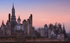 #20 #Sukhothai (*) Hire a bicycle to explore the elegant ruins of Thailand's thirteenth-century capital.