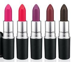 Lipsticks from the MAC Cosmetics Strength Collection
