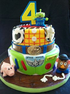 Joshs Toy Story Cake Party Theme Birthday