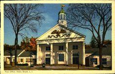 New York NY, Long Island, Post Office, Stony Brook, Vintage Postcard NY792564