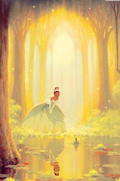 princess tiana and her frog prince