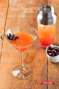 Just the right amount of tartness and sweetness, this Blood Orange Martini will impress your guests once you top it off with a delicious Kalamata Olive. Learn how!