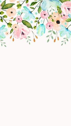 Ideas For Wallpaper Floral Watercolor Beautiful Flower Backgrounds, Phone Backgrounds, Picture Sharing, Screen Wallpaper, White Wallpaper, Simple Iphone Wallpaper, Beautiful Wallpaper, Trendy Wallpaper, Watercolor Flowers