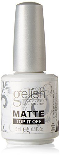 Gelish Soak Matte Top It Off Sealer Gel Nail Polish 05 Ounce * To view further for this item, visit the image link.Note:It is affiliate link to Amazon.