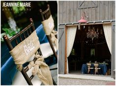 head table, bride, groom, chair signs, chandelier, barn, wedding reception, BWB Ranch These two tied the knot at the BWB Ranch in Laporte, MN. This new barn venue is absolutely gorgeous! Vendors  Venue: BWB Ranch Photographer: Jeannine Marie Photography Videographer: Complete Video Florist: KD Floral Caterer: Bemidji Town & Country Club Bartender: Lucky Moose Dessert: Rother's Just Dessert DJ/Photobooth: Ntertainment