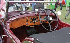 1936 Bentley 4.25 Litre Vanden Plas Tourer - maroon & black - int