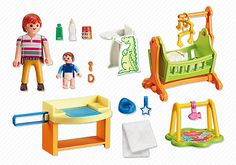 Playmobil malade Room With Baby Crib 6660