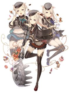 View an image titled 'Three Little Pigs, Cleric Job Art' in our SINoALICE art gallery featuring official character designs, concept art, and promo pictures. Game Character Design, Fantasy Character Design, Character Concept, Character Art, Concept Art, Dnd Characters, Fantasy Characters, Alice, Three Little Pigs