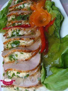 Pork loin in Warsaw Polish Recipes, Polish Food, Calzone, Pork Loin, Caprese Salad, Fresh Rolls, Fried Rice, Sushi, Dinner Recipes