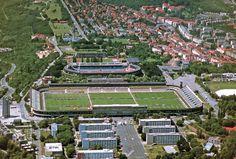 Trainingscentrum van Sparta Praag - Strahov stadion - Tsjechië. 2009. Wedstrijd: Geen. Stiekem binnengewandeld :). Machtig gevoel, 6 voetbalvelden in 1 stadion.