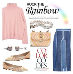 """Rainbow Style"" by pearlparadise ❤ liked on Polyvore featuring Acne Studios, Valentino, women's clothing, women's fashion, women, female, woman, misses, juniors and contestentry"