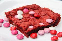 Valentine's Day Red Velvet M&M Bars