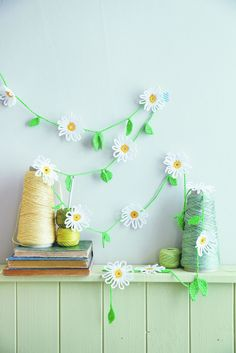 Crochet a daisy chain . Free tutorial with pictures on how to make a bunting / garland in under 120 minutes by crocheting with crochet hook and cotton yarn. Inspired by flowers and daisy. How To posted by Quadrille. in the Yarncraft section Difficulty:...
