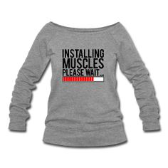 Installing muscles please wait by gymmotivationuk: Women's Tee #Tee #Installing_Muscles