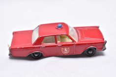 Matchbox Lesney #55/59 Ford Galaxie Fire Chief Car 1960's, made in England, Die-Cast Toy Car Collection, Matchbox Cars Mobil Labels by RememberWhenToys on Etsy #CarsMadebyFord
