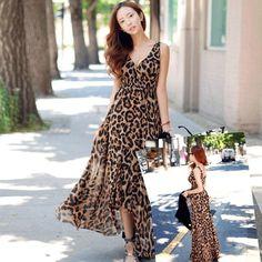 V1145 Vestido Leopardo