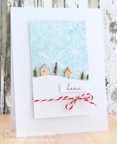 Home for the Holidays Card by Debby Hughes Memory Box die- Country Landscape… Noel Christmas, Handmade Christmas, Christmas Crafts, Winter Christmas, Country Christmas, Xmas Cards, Holiday Cards, Box Noel, Memory Box Cards