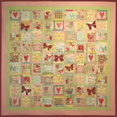 The Butterfly Garden quilt designed by Leanne Beasley - I am in the middle of sewing a version of this beautiful quilt at the moment!