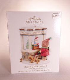 Hallmark 2012 Christmas Window NIB-DB Gift Toy Shop Girl Dog Ornament