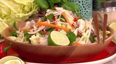 Bill's back with a light and summery Vietnamese chicken salad. Filling and full of flavour but healthy too. Vietnamese Chicken Salad, Lorraine Recipes, My Favorite Food, Favorite Recipes, Bill Granger, Potato Salad, Cabbage, Salads, Healthy Eating