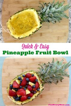 This fun pineapple fruit bowl is perfect for holding your fruit salad. Use it for a brunch, cookout or any other special occasion