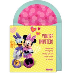 Free Minnie Mouse Invitations Minnie mouse and Mice