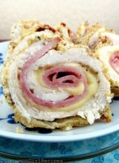 Chicken Cordon Bleu Roll-ups
