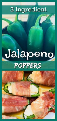 This easy recipe for Jalapeno Poppers uses only 3 ingredients and can be made & ready to eat in less than 30 minutes for an easy, delicious appie or lunch! Easy Jalapeno Poppers Recipe, Jalapeno Popper Recipes, Easy Snacks, Yummy Snacks, Easy Meals, Yummy Food, Appetizer Recipes, Appetizers, 3 Ingredients