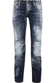 DSquared2 Distressed low-rise skinny jeans