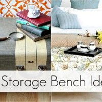 Add some storage to your decor with these 10 great diy storage benches