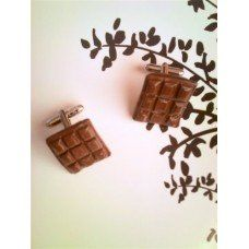 Chocolate Cufflinks made by Fairypants in - Made In Uk, Cufflinks, Wall Lights, Jewelry Making, Jewellery, Chocolate, How To Make, Decor, Decorating